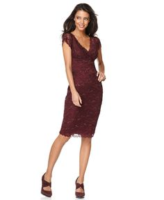 Marina Dress, Cap Sleeve Lace Cocktail Dress - Womens Dresses - Macy's