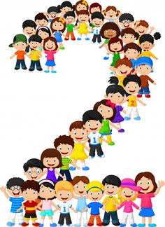 Young children form number two - - Drawing For Kids, Art For Kids, Sunday School Crafts For Kids, Teaching Boys, School Frame, School Labels, School Clipart, Number Two, Preschool Art