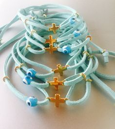 Baptism Favors,Martirika 10pcs,Martyrika Cross Bracelets,Baby Boy Girl Favors,Handmade,Orthodox Baptism Favors,Cross Bracelets,Witness Pins.
