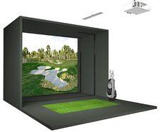 Floorplan for golf simulator mancave pinterest golf for Golf simulator room dimensions