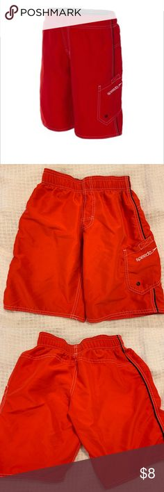 e0ff654676 Speedo Red Boys Swim Trunks Swimsuit L Red Speedo Youth Large EUC (inside  tag cut