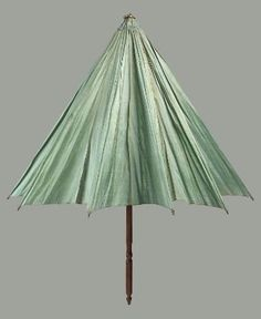 Umbrella; parasol. American, late 18th to early 19th century. [Worn by donor's great-grandmother Abigail Robbins (1759-1850); Inherited by Ellen A. Stone; Gift to MFA, 1899]  In the Museum of Fine Arts Boston.