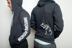 Love a full zip hoodie and this one is getting frisky with a hand on your bum. - from MichiganAwesome.com