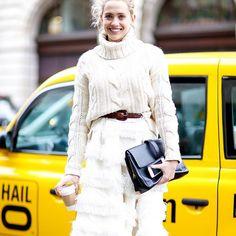 Beautiful Laurel Pantin wearing Samuji at London Fashion Week