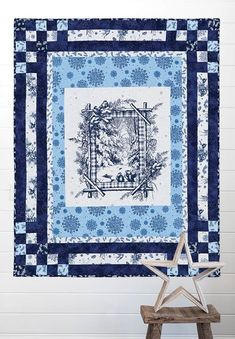A Winter's Tale Quilt Kit - featuring Bouncing Borders by bean counter Quilts
