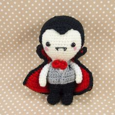 Mr K The Vampire Amigurumi Pattern