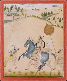 Attributed to Stipple Master (Indian, active ca. Maharana Amar Singh II Riding a Jodhpur Horse, ca. The Metropolitan Museum of Art, New York. Cynthia Hazen Polsky and Leon B. Fine Art Prints, Framed Prints, Canvas Prints, Exhibition, Stippling, Horse Art, Watercolor And Ink, Metropolitan Museum, Miniatures