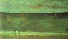 Nocturne: Blue and Silver - Bognor - James McNeill Whistler