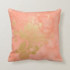 Gold Baby Nursery, Room Decor Bedroom Rose Gold, Coral Living Rooms, Crystal Room, Grey And Coral, Live Coral, Paint Background, Pillow Sale, Paint Splatter