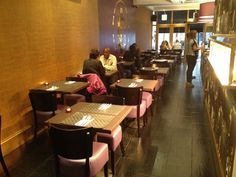 Working closely with Purple Thai, DeFrae supplied all the interior furniture for the new Thai restaurant in East London. The Ascot side chairs were supplied with a wenge frame with the seat upholstered in a stunning purple faux leather which matched perfectly with the Restaurant's colour scheme. The tabletops and bar stools were upholstered in a gold faux leather and bespoke seating with it's high fluted back was also provided in the striking gold vinyl to add a touch of exclusivity.