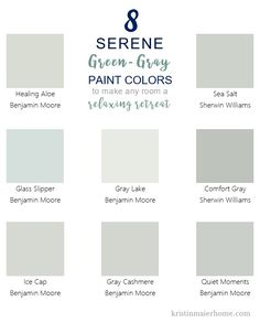 8 Serene Green-Gray Paint Colors – Kristin Maier Home - Modern