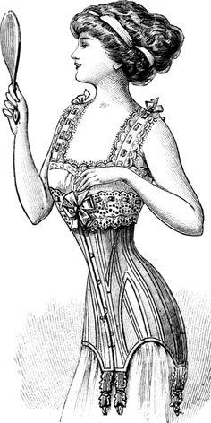 Catalogue drawing from Grands magasins Au Printemps Paris, page 43, Winter 1909-1910