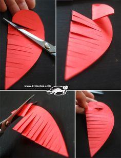 How to Make Heart Shaped Ornaments - DIY & Crafts - Handimania Kids Crafts, Valentine Crafts For Kids, Mothers Day Crafts For Kids, Fathers Day Crafts, Valentines Day Decorations, Valentine Day Crafts, Toddler Crafts, Preschool Crafts, Heart Decorations