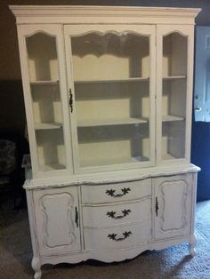 Another view of my French Country China Cabinet!