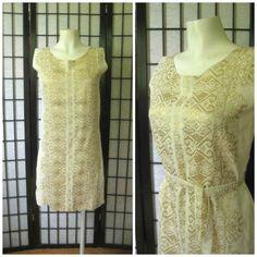 Vintage 1960s 1970s Dress Greek Sheath Summer Shift by girlgal6