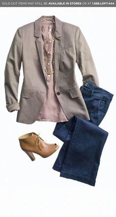 Outfit Ensemble by Ann Taylor Loft.                                                                                                                                                                                 More
