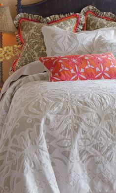 Siraj Cutwork Coverlet - Bedding, Home Decor | Soft Surroundings