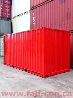 Vibriant custom Red paint!  Want your new custom container? Call us today! Fabricated Container Systems  Office. 289.270.2952  Fax. 905.364.5329  E-mail: Sales@fab-con.ca