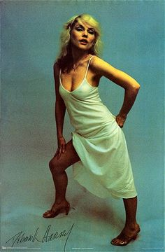 Deborah Harry (Poster)  Year: 1979   Info: Photograph by Chris Stein. Printed in Scotland by Holmes McDougall LTD - Catalogue Number 83/P3216.   Size: 62.5cm x 95cm http://www.rip-her-to-shreds.com