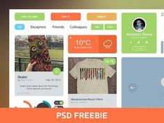 Download Light UI/UX Kit PSD PSD UI kit - http://www.vectorarea.com/download-light-uiux-kit-psd-psd-ui-kit