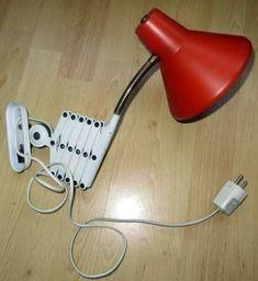 Vintage rood met wit HALA schaarlamp