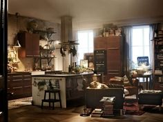 cozy kitchen...and books!