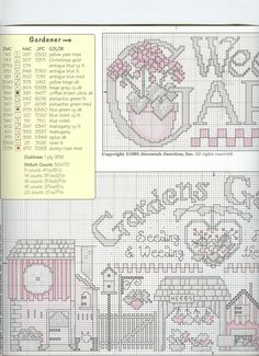 Schematic cross stitch Gardens Galore 2/4