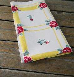Hey, I found this really awesome Etsy listing at https://www.etsy.com/listing/172836758/vintage-tablecloth-red-roses-mid-century
