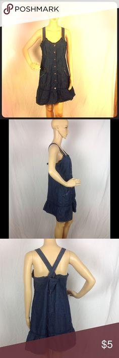Jacqueline Denim Dress Size Large Excellent pre-owned condition! Jacqueline Dresses