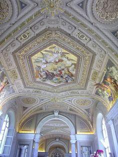 Vatican Museum    Ceiling in the Vatican Museum.