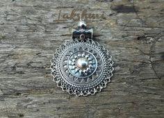 Pingente de prata mandala, pendant silver India