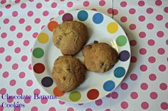 Chocolate chip cookies with a bit of banana flavouring!