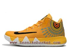 finest selection 45779 d74e8 Basket Nike Kyrie 4 Jaune Noires Chausport Nike Pas Cher Pour HOmme