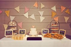 cake table and heart on cake