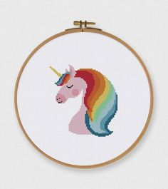 Nursery Unicorn cross stitch pattern lovely nursery cross stitch kit beginner