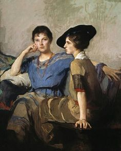 """Edmund Charles Tarbell: """"The Sisters"""", oil on canvas, Dimensions: 61 x 51 inches, Current Location: Gibbes Museum of Art; Museum Of Fine Arts, Art Museum, Ferdinand Bol, Andrea Doria, James Mcneill Whistler, Bbc Drama, Japanese Prints, Happy Sunday, American Artists"""