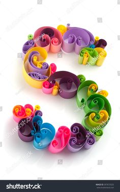 Paper Abc Letter Made Quilling Crafting Stok Fotoğrafı (Şimdi Düzenle) 397672525 Quilling Letters, Quilling Craft, Paper Quilling, David Zinn, Diy Art Projects, Projects To Try, Paper Art Design, Alphabet Wallpaper, Palestinian Embroidery