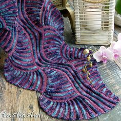Scarf Under the Sea (patchwork knitting)