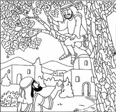 Zacchaeus in the tree cut outs sunday school crafts for Zacchaeus coloring pages for preschoolers