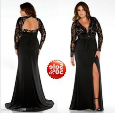 Plus Size Black Evening Gowns With Jackets