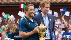 Jonny Wilkinson and Prince Harry World Cup winning legend Jonny Wilkinson made a Commander of the Order of the British Empire