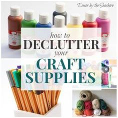 Why is it always so hard to keep craft supplies organized? This site is so helpful for learning how to declutter your craft supplies and keep them that way!