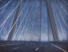 Palys Joanna, Bridge - Change II, acrylic on canvas, modern architecture, Wroclaw, wroclaw's bridge, bridge, architecture on paitning, modern art, polish art, landscape, modern landscape