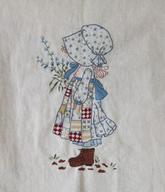 Diy Embroidery Patterns, Silk Ribbon Embroidery, Applique Patterns, Embroidery Stitches, Quilt Patterns, Applique Pillows, Holly Hobbie, Colorful Drawings, Quilting Designs