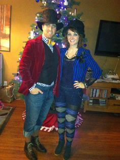 Husband and I dressed for my Mad Hatter Birthday Party! <3