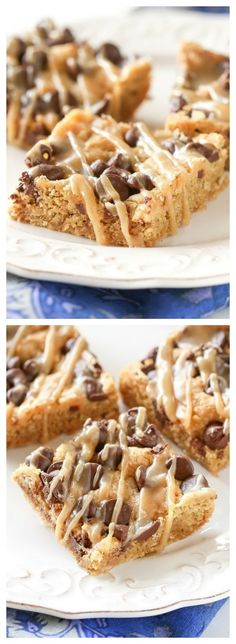 Oatmeal Chocolate Chip Peanut Butter Bars - the-girl-who-ate-everything.com