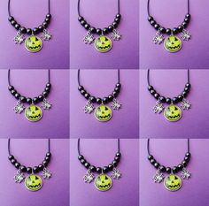 gothic halloween necklace ☠ www.etsy.com/shop/OfStarsAndWine ☠ pastel goth nu goth