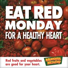 Celebrate American Heart Month by eating red on Try these 5 red fruits and veggies that are good for your heart. Heart Health Month, Heart Month, Eat And Run, Red Fruit, Foods To Eat, Meatless Monday, Fruits And Vegetables, Good To Know, Health And Wellness