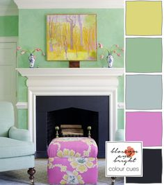 Colour Cues #06   Blossom and Bright   Room design by Suellen Gregory #colourcues #blossomandbright