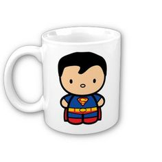 chibi superman mug!!! i want! only sold in Philippines tho... sigh.